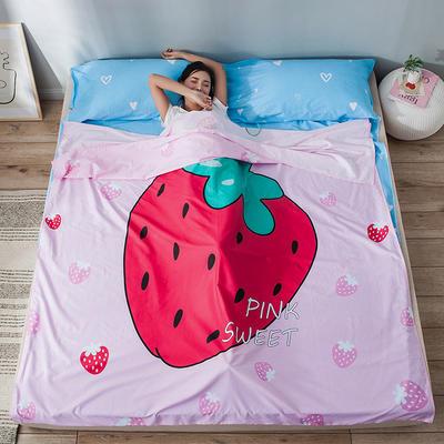 全棉平网大版-睡袋 160*230草莓