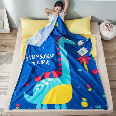 全棉平网大版-睡袋 160*230恐龙乐园