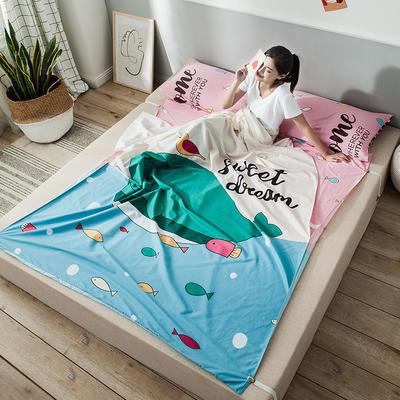 全棉平网大版-睡袋 200*230航海天际