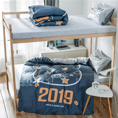 2019新款-全棉平网大版三件套系列 床单款0.9m-1.0m床 2019猪