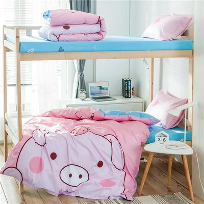 2019新款-全棉平網大版三件套系列 床單款0.9m-1.0m床 baby豬