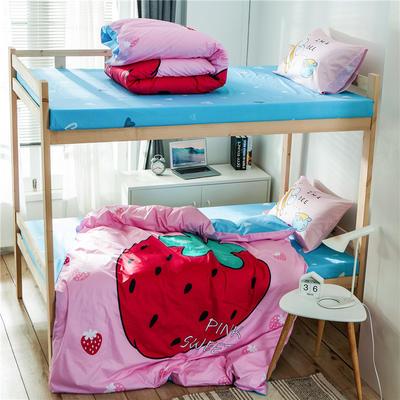 2019新款-全棉平网大版三件套系列 床单款0.9m-1.0m床 草莓