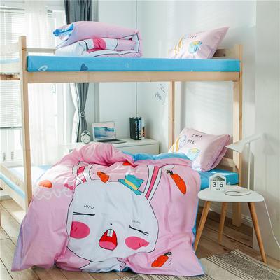 2019新款-全棉平網大版三件套系列 床單款0.9m-1.0m床 兔寶寶