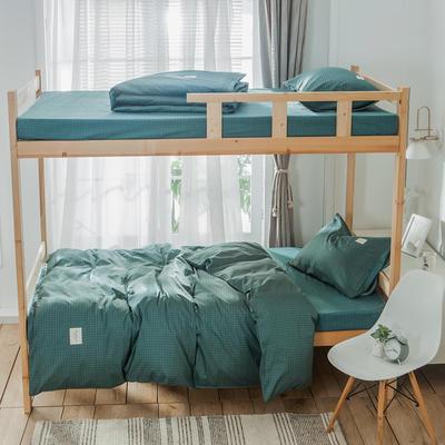 学生三件套-全棉简约织标款 床单款四件套1.35m(4.5英尺)床 贝宁
