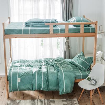 学生三件套-全棉简约织标款 床单款四件套1.35m(4.5英尺)床 布谷