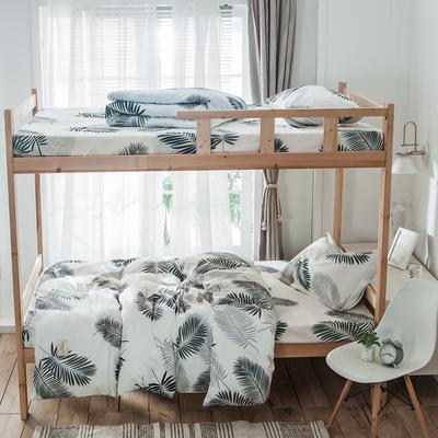 学生三件套-全棉简约织标款 床单款三件套1.2m(4英尺)床 初夏