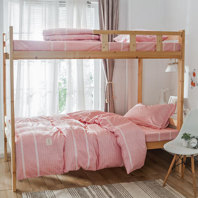 学生三件套-全棉简约织标款 床单款四件套1.35m(4.5英尺)床 谷米