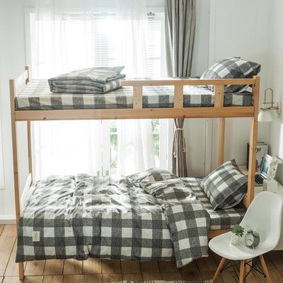 学生三件套-全棉简约织标款 床单款四件套1.35m(4.5英尺)床 拉布拉多