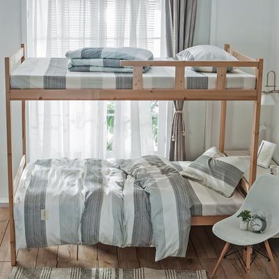 学生三件套-全棉简约织标款 床单款四件套1.35m(4.5英尺)床 马拉维