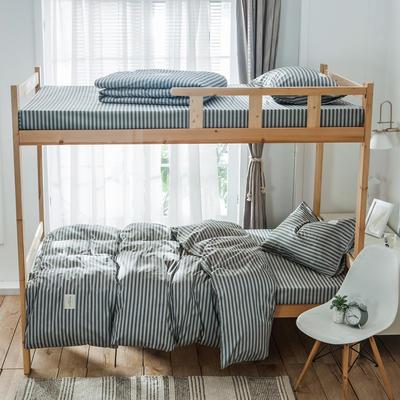 2019新款-全棉三件套织标系列 床单款三件套1.2m(4英尺)床 慢生活
