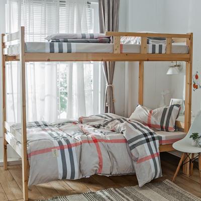学生三件套-全棉简约织标款 床单款四件套1.35m(4.5英尺)床 墨尔本