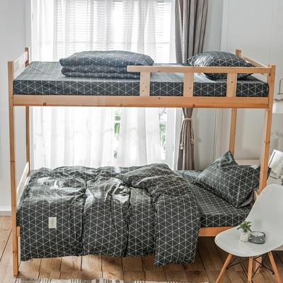 学生三件套-全棉简约织标款 床单款四件套1.35m(4.5英尺)床 索马里