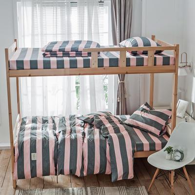 学生三件套-全棉简约织标款 床单款四件套1.35m(4.5英尺)床 雅加达