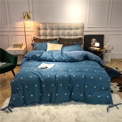 2019新款-蝴蝶结印花系列四件套 床单款三件套1.2m(4英尺)床 蝴蝶结-兰