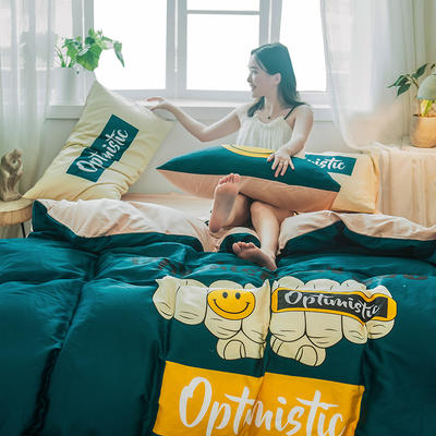 2019新款-13372全棉平网系列四件套 床单款1.8m(6英尺)床 燃梦