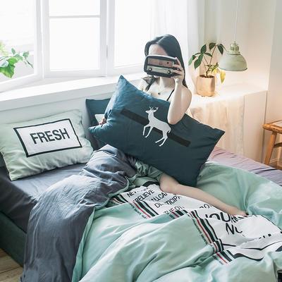 2019新款-13372全棉平网系列四件套 床单款1.8m(6英尺)床 图灵