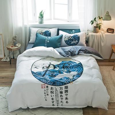 2019新款-13372全棉平网系列四件套 床单款1.8m(6英尺)床 为梦启航