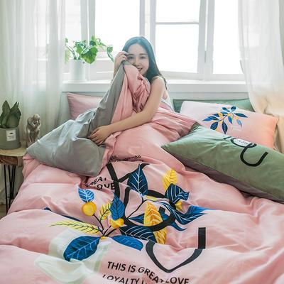 2019新款-13372全棉平网系列四件套 床单款1.8m(6英尺)床 悦目