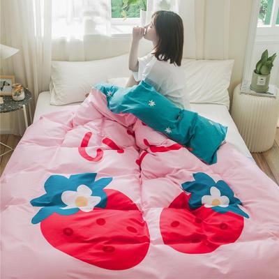 2019新款-单品大版全棉被套 160x210cm 早安