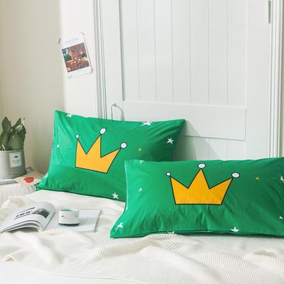 2019新款-单品大版全棉枕套 48cmX74cm/一对 皇冠