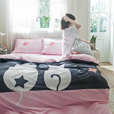 2019新全棉平网系列四件套 床单款1.2m被套160*210 二人世界