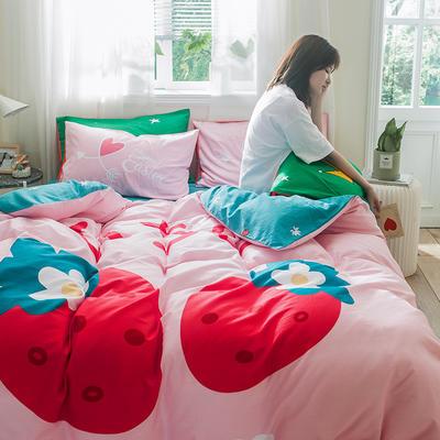 全棉平网系列四件套 床单款1.2m被套160*210 早安