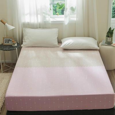 单品全棉床笠 120cmx200cm 粉驼