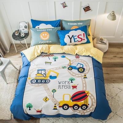 2019新款-绒-A棉大版B绒系列四件套 床单款三件套1.2m(4英尺)床 绒-积木