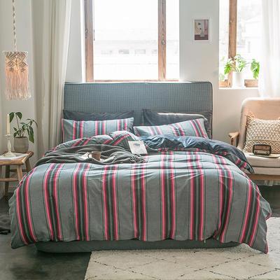 秋冬绒-13372棉绒四件套系列 床单款四件套1.5m(5英尺)床 绒-古巴