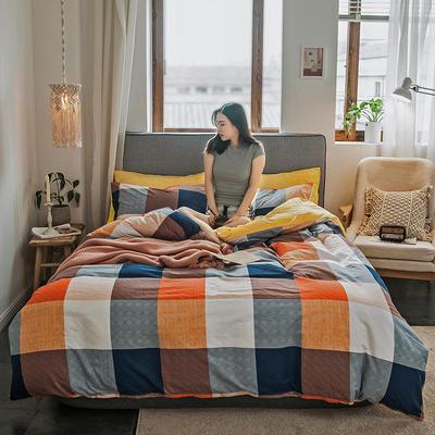 2019新款秋冬绒-13372棉绒YB亚博在线娱乐系列 床单款三件套1.2m(4英尺)床 绒-海地