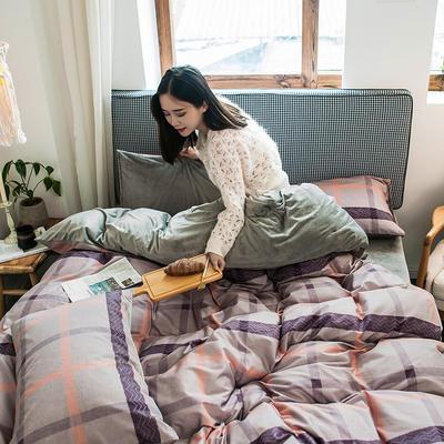 2019新款秋冬绒-13372棉绒YB亚博在线娱乐系列 床单款三件套1.2m(4英尺)床 绒-慕尚