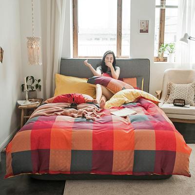 秋冬绒-13372棉绒四件套系列 床单款四件套1.5m(5英尺)床 绒-沃洛斯