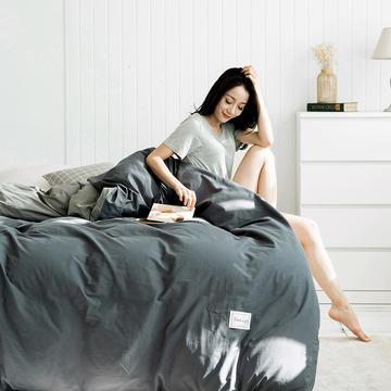 2020新款-全棉纯色织标款单被套