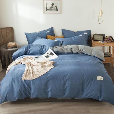 2020新款-全棉纯色织标款四件套 床单款三件套1.2m(4英尺)床 宁静兰