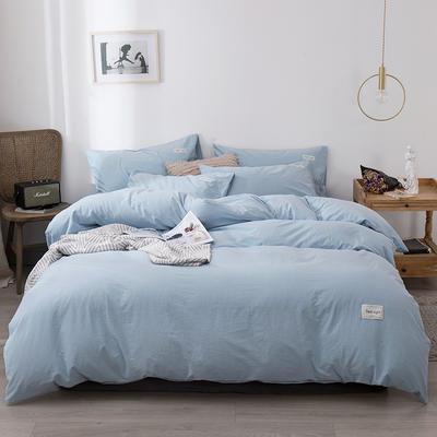 2020新款-全棉纯色织标款四件套 床单款三件套1.2m(4英尺)床 新苏兰