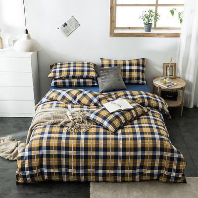 2020新款-全棉英伦风四件套 床单款三件套1.2m(4英尺)床 安道尔