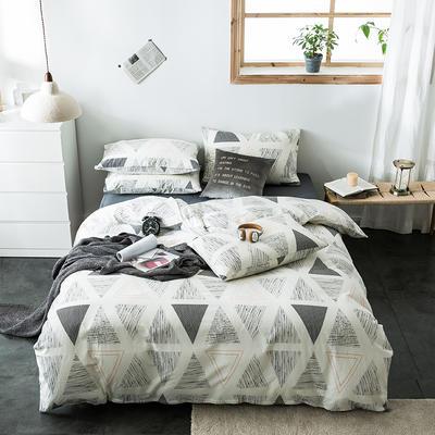 2020新款-全棉英伦风四件套 床单款三件套1.2m(4英尺)床 巴内加