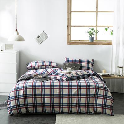 2020新款-全棉英伦风四件套 床单款三件套1.2m(4英尺)床 多哥
