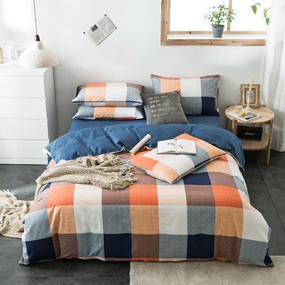 2020新款-全棉英伦风四件套 床单款三件套1.2m(4英尺)床 海地