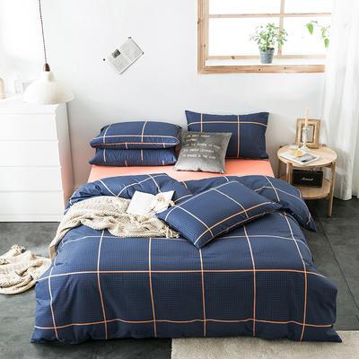 2020新款-全棉英伦风四件套 床单款三件套1.2m(4英尺)床 开罗