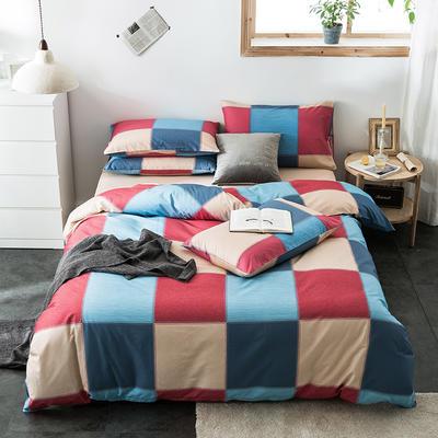 2020新款-全棉英伦风四件套 床单款三件套1.2m(4英尺)床 罗马