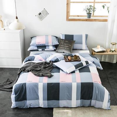 2020新款-全棉英伦风四件套 床单款三件套1.2m(4英尺)床 洛林