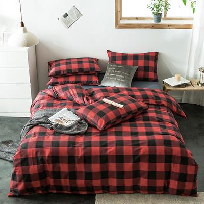 2020新款-全棉英伦风四件套 床单款三件套1.2m(4英尺)床 马里