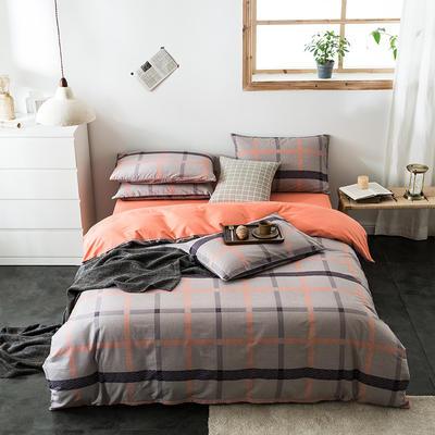 2020新款-全棉英伦风四件套 床单款三件套1.2m(4英尺)床 慕尚