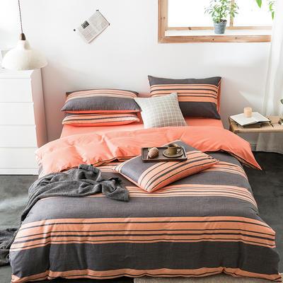 2020新款-全棉英伦风四件套 床单款三件套1.2m(4英尺)床 桑托斯