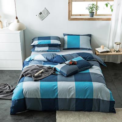 2020新款-全棉英伦风四件套 床单款三件套1.2m(4英尺)床 图雷-兰