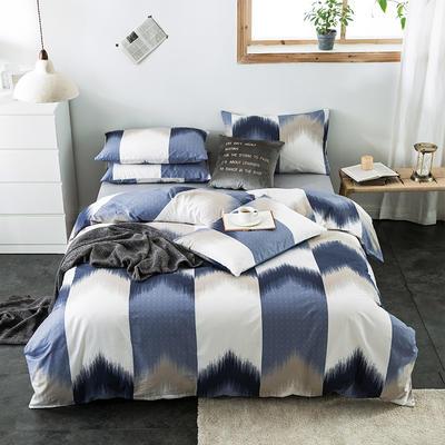 2020新款-全棉英伦风四件套 床单款三件套1.2m(4英尺)床 维多利亚