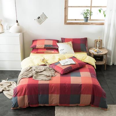 2020新款-全棉英伦风四件套 床单款三件套1.2m(4英尺)床 沃洛斯