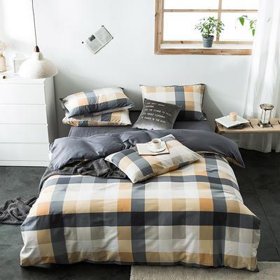 2020新款-全棉英伦风四件套 床单款三件套1.2m(4英尺)床 夏威夷