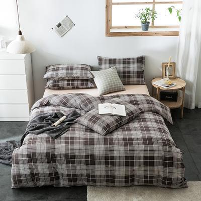 2020新款-全棉英伦风四件套 床单款三件套1.2m(4英尺)床 牙买加